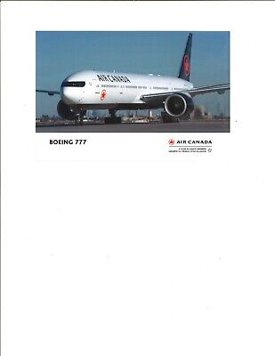 Air Canada airline issue postcard 777 NEW!!!