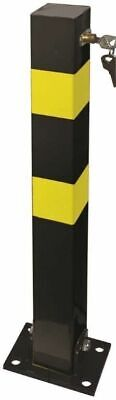 Heavy Duty Folding Down Security Post Parking Post complete with Lock