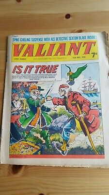 Valiant Comic 16.5. 1970 - Sexton Blake - Raven on The Wing Is It True cover