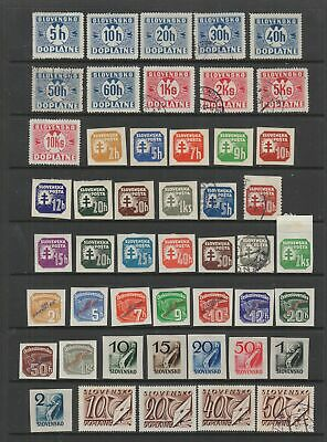 Slovakia 1939 - 1945 Postage Dues / Newspaper stamps collection, 71 stamps
