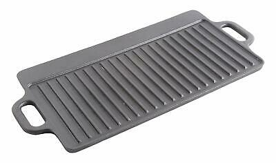 "Cast Iron Reversible Griddle Grill 17"" x 9"" Pan Lodge Steak Stove Plate Top Fry"
