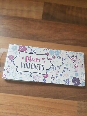 Brand New Sealed  Mum Vouchers Coupons Book Treats Mother/'s Day Birthday Gift