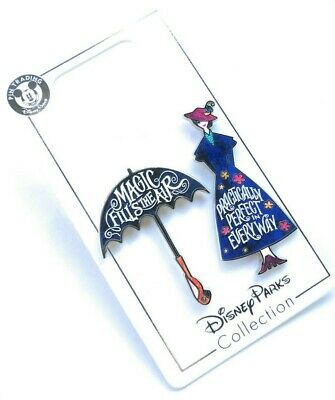 Disney Parks Mary Poppins Practically Perfect Magic Fills Air 2 Pc Pin Set - NEW