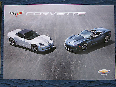 Nos 2013 Corvette Dealer Showroom Poster Set Camaro Ss Impala Volt Malibu Chevy