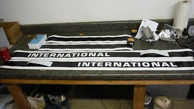 International 1486 Decal Set. With Cab. Black & White. Hood And Cab. C-Details