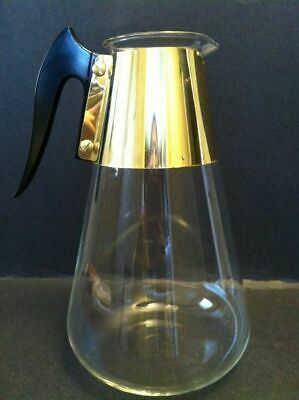 Vintage retro unbranded replacement coffee pot pourer server carafe tall 9.5""