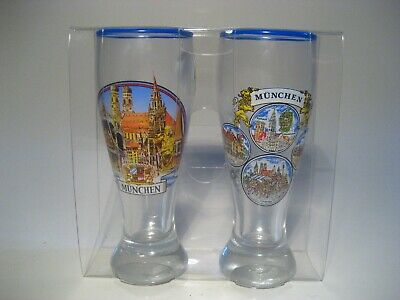 German Shot Glasses Bar Ware Munchen Collectible Souvenir Lot Of 2 New