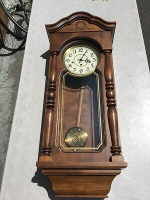 Magnificent Ansonia Gold Medallion Westminster Triple Key Wind Wall Clock #795