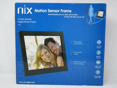 NIX Motion Sensor Frame 12 Inch Digital Photo Frame w/ 4GB USB (open box) NEW