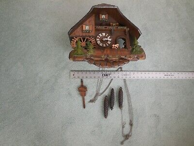 Vintage German Chalet cuckoo clock Regula - 859 Black Forest