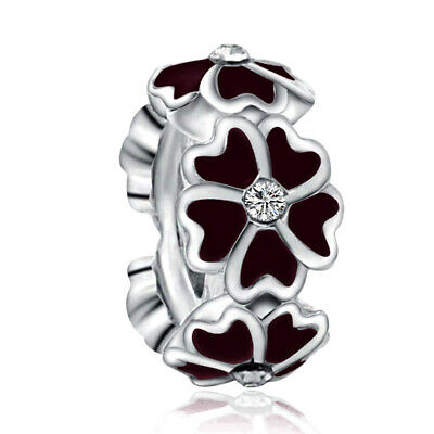 NEW European Silver plated Charm Bead Fit sterling 925 Necklace Bracelet D#135
