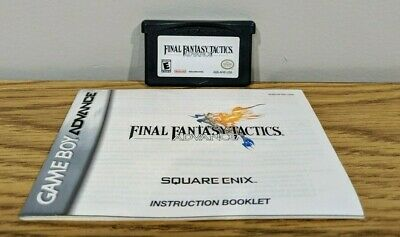 Final Fantasy Tactics Nintendo Gameboy ADVANCE Game GBA Tested AUTHENTIC Manual