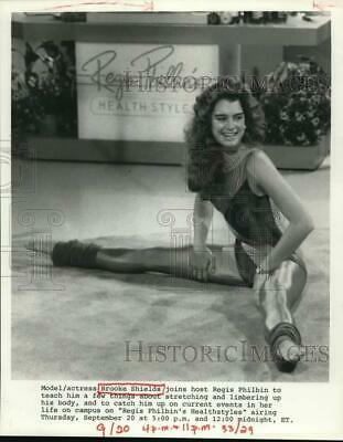 "Press Photo Actress & Model Brooke Shields On ""Regis Philbin's Healthstyle"""