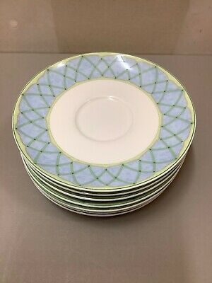 Mikasa Optima Super Strong Fine China Y4001 Fruit Rapture Set Of 7 Saucers