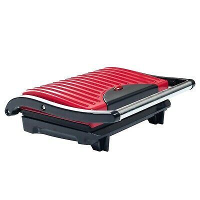 Panini Press Indoor Grill and Gourmet Sandwich Maker With Nonstick Plates (Red)