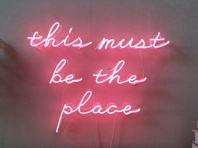 "22""x16"" New This Must Be The Place Neon Sign Gift Store Artwork Custom neon lamp"