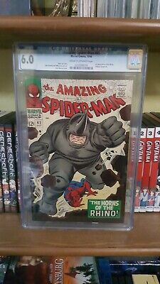 Amazing spider-man #41 Graded 6.0 CGC~1st app. Rhino~silver age key~free ship