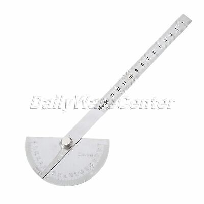 0-180° Stainless Steel Degree Protractor Angle Finder Ruler Rotary Measure Tool