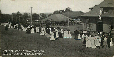 Postcard Picnic Day at Hershey Park, Hershey, Pennsylvania - circa 1909