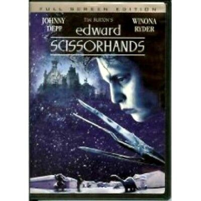 NEW Edward Scissorhands DVD MOVIE SCISSOR HANDS Tim Burton Johnny Depp  1990