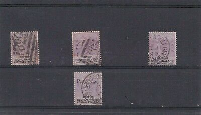 Very Good Lot Of Four Qv British Bechuanaland Stamps Fine Used 528#