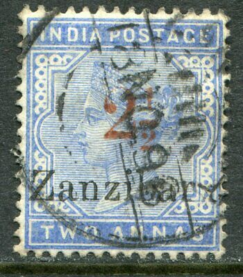 Zanzibar 1895-98 2½a type 7 on India 2a SG 27 used (cat. £110)