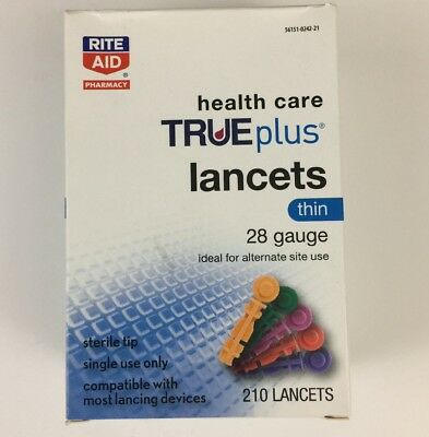 Rite Aid Health Care Trueplus Lancets-Alternative Site-Thin 28 Gauge 210 Lancets