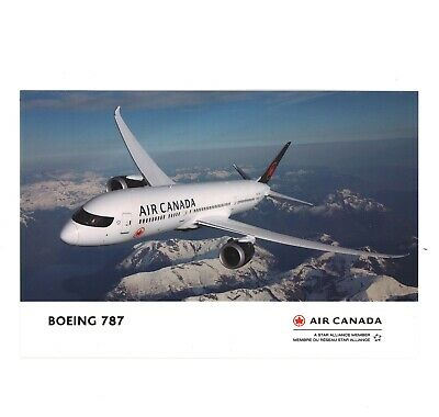 Air Canada airline issue postcard 787 NEW!!!