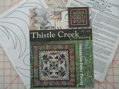 THISTLE - Paper Piecing Quilt Pattern - Judy Niemeyer Thistle Creek Crossing 62""