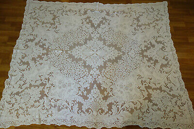 Gorgeous Vintage Original Quaker Lace Tablecloth #1370 Soft White 54x64