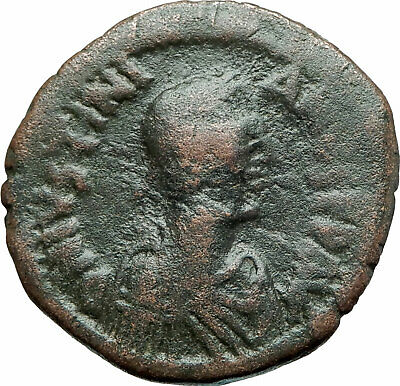 JUSTINIAN I the GREAT 527AD Authentic Ancient Follis Byzantine Coin i79308