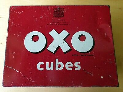 Vintage Oxo Cubes Tin Large 24 x 6's By Appointment To The Late King George VI