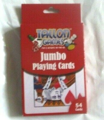 54 Cards Tallon Games Pack of Plastic Coated Jumbo Playing Cards