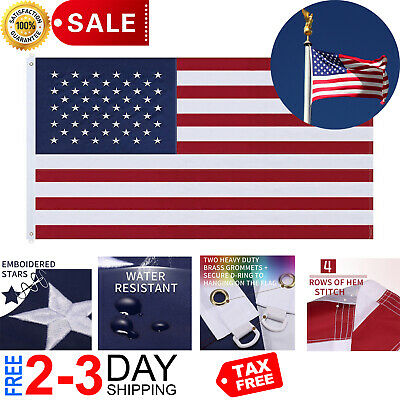 6X10 Foot Large Commercial-Grade Nylon US American Flag Outdoor Flags Gift