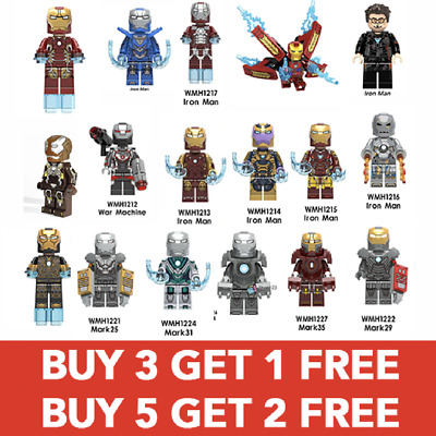 Avengers Marvel Minifigure Super Heroes Infinity War Iron Man Tony Stark Thanos