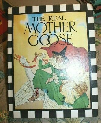 Vintage THE REAL MOTHER GOOSE Nursery Rhymes Children's BOOK Hard 1979