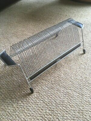Vintage Mid Century 50 X Vinyl Record Single Storage Sputnik Wire Rack Stand