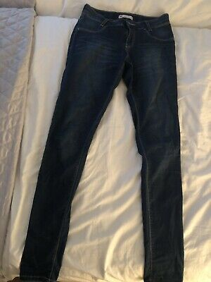 Girls Levi Strauss Blue Denim Skinny Jeans Age 16