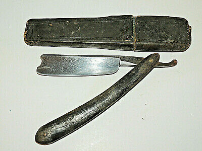 "Antique Joseph Elliot Celebrated Straight Razor, 7/8"" Blade, with Box"