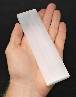 "Polished Selenite Charging Station: 6"" Flat Crystal Plate (Cleansing)"