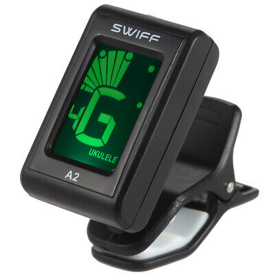 SWIFF A2 Clip-On Automatic Tuner for Ukulele Bass Electric Guitar Digital J1G8