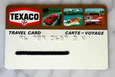 Rare Vintage 1970s Canadian Texaco Travel Gold Credit Card