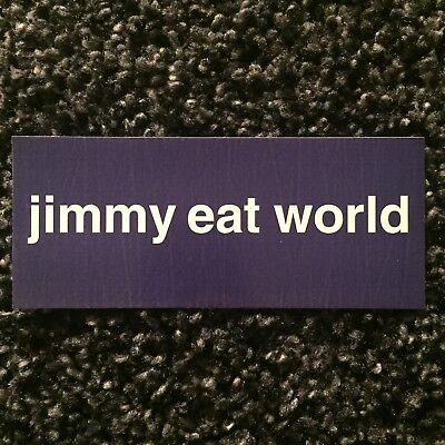 JIMMY EAT WORLD classic Static Prevails promo only 6x2.5 sticker RARE OOP (1998)