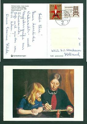 Denmark. Christmas Card With Seal Overprint 1978/82 + 1.80 Ore Sc.#730 Printing.