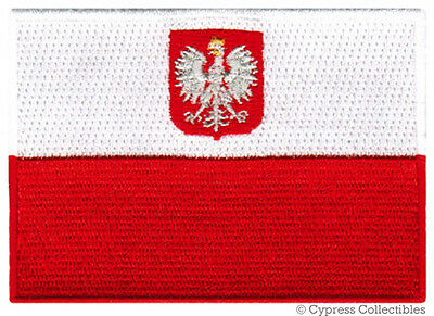 POLAND NATIONAL FLAG PATCH POLISH EMBROIDERED EMBLEM iron on applique SWALLOW