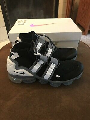 Nike Air Vapormax Flyknit Utility Mens Size 10.5 Black Grey White $250 Shoes