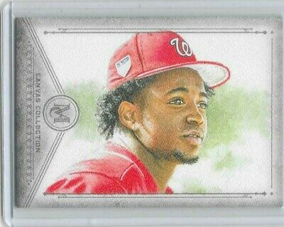 2019 Topps Museum Collection baseball Victor Robles Canvas Collection card CC-37
