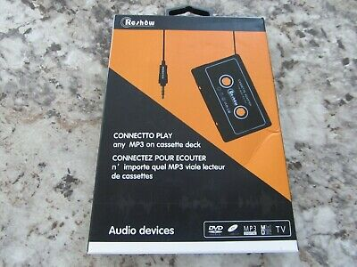 Reshow Travel Cassette Adapter for Cars, 3.5mm Cassette to AUX Adapter
