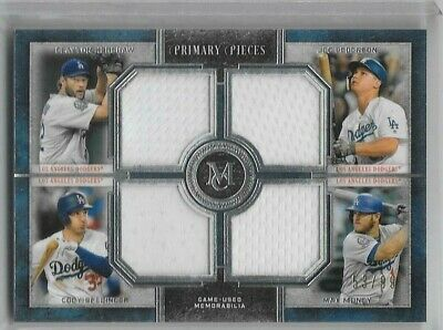 2019 Topps Museum Collection Primary pieces quad jersey /99 card L.A. DODGERS