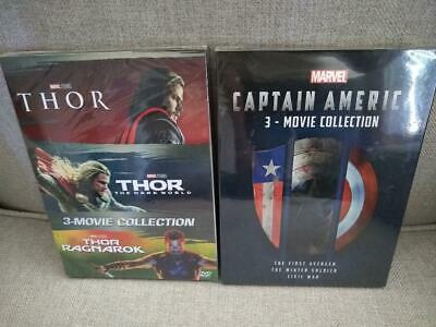THOR & CAPTAIN AMERICA 1-3 DVD 3 Movie Collection: First Avenger, Winter Soldier